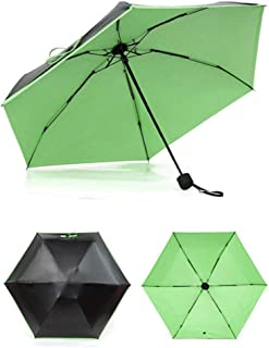 Mini Colorful Small Folding Pocket Umbrella Umbrella Rain Cover Tourism,Green