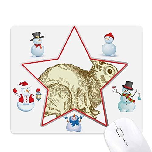 lapin de pâques la religion festival le bonhomme de neige étoile tapis de souris