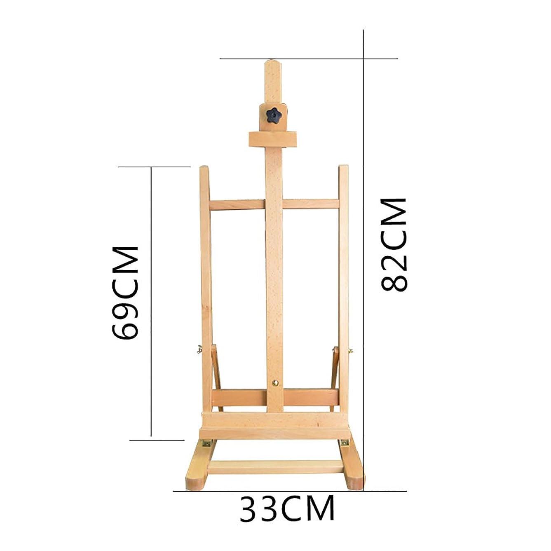 先長々とガラス塗装イーゼル ボックスのデスクトップのデスクトップの装飾木製の木のスケッチのスケッチブナの木製のエルムのディスプレイスタンド (Color : 2)