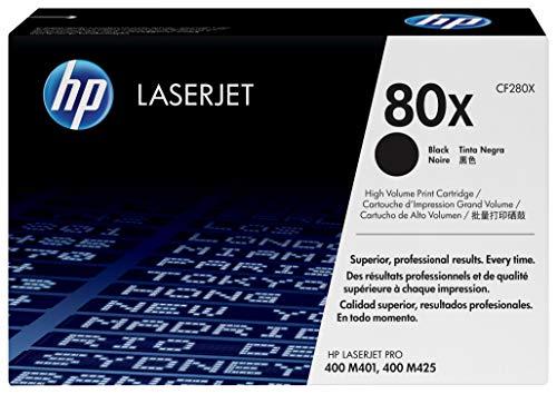 HP 80X | CF280X | Toner Cartridge | Black | High Yield