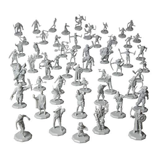 56 Unpainted Fantasy Mini Figures- All Unique...