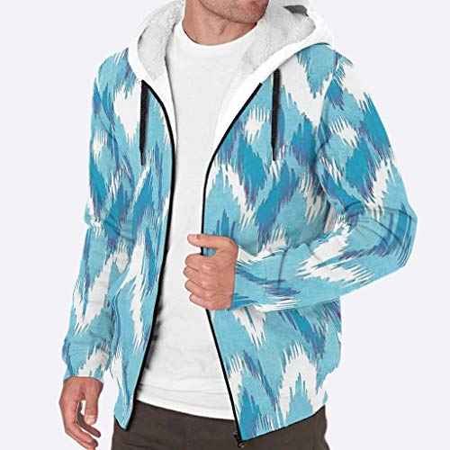YxueSond mannen Casual Hoodies Winter Graphics Geometrische patroon Hoodie Sweatshirt jas