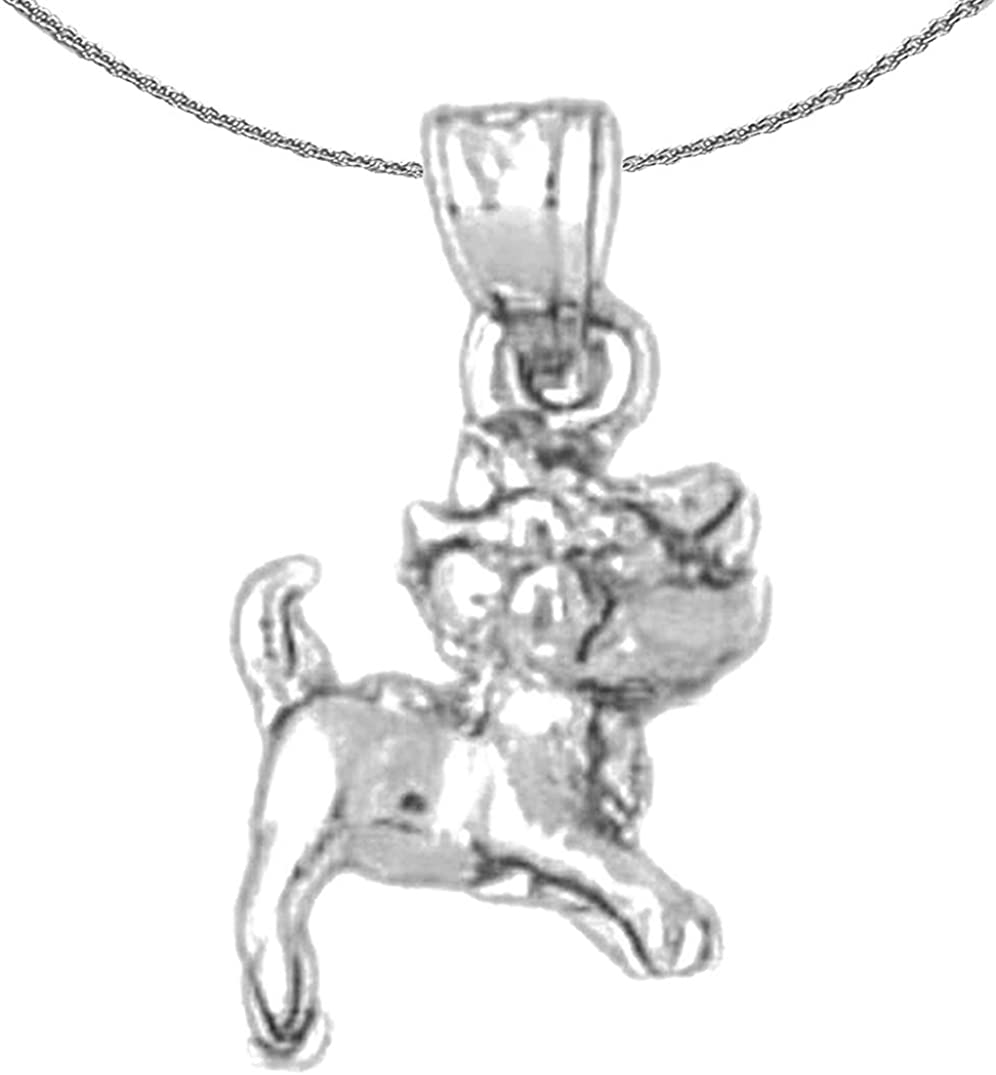 Jewels Obsession Gold Dog Pendant Sale Special Max 60% OFF Price 14K White Necklace