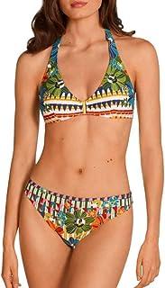 DOLORES CORTES Bikini de Mujer Escote Halter Copa B 1763-3
