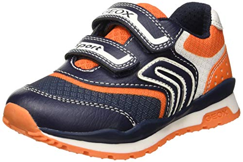 Geox Jungen J Pavel a Sneaker, Blau (Navy/Orange C0659), 34 EU