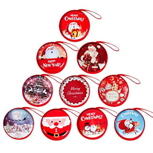 VORCOOL Sacs à Monnaie de Noël Portables Sacs à Monnaie Portables boîtes à Bonbons Cadeaux Ornements d'arbre de Noël décorations de fête suspendues au Hasard Pa