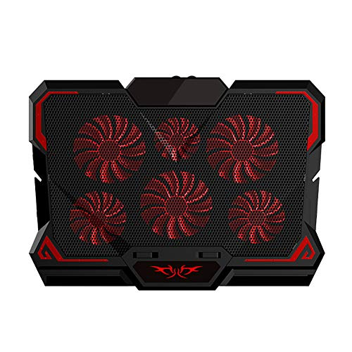 Laptop Cooler, Gaming Laptop Cooler Supporto per notebook silenzioso a sei ventole con luce per laptop