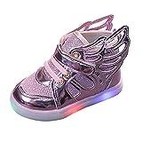 Zapatillas niña Bonita Precioso Antideslizante cómodos Zapatillas niño niña Verano 2021 otoño para Show Zapatos niña con luz LED Primeros Pasos para Caminar niña 1-7 Años Zapatos Princesa niñas