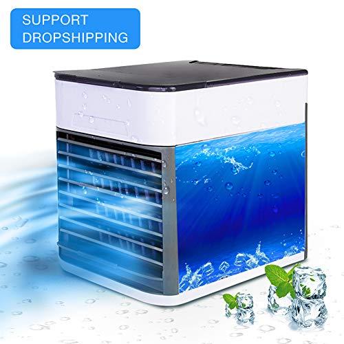 Tragbarer Luftkühler,Mit USB Ventilatoren Air Cooler,3 Speed Desktop-Lüfter Verdunstungsbefeuchter Mobile Klimaanlage,Für Haus,Zimmer,Büro,A