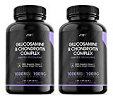 Glucosamine 2 KCL & Chondroitin Complex - with MSM, Boswellia, Rosehip, Ginger & Turmeric - Made from Pasture Raised, Grass-Fed Bovine - Non-GMO, 180 Capsules (2 Pack)
