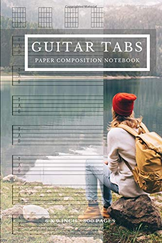 Guitar Tabs Paper Composition Notebook: Size 6' X 9' Inches, 300 Pages, This Blank Guitar Tab Notebook Is Seven 6-line Staves Per Page Evenly Spaced ... To Write Down Guitar Lesson Notes Vol.9