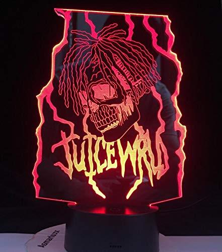 Diseño moderno personaje de dibujos animados lámpara de mesa 3D luz de noche LED decoración de acrílico dormitorio regalo de vacaciones