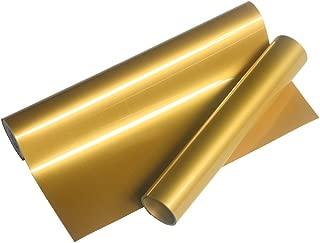 VINYL FROG Gold Heat Transfer Vinyl Roll HTV for Cameo for DIY Garments,T-Shirts 0.8x5ft