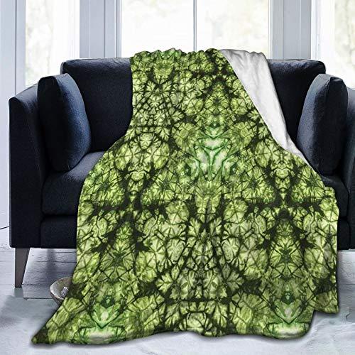 Couverture moelleuse, inspirée de la nature abstraite - Pliée, colorée, silhouette de comptoir de culture, ultra douce - Pour chambre à coucher, lit de télé - 203,2 x 152,4 cm