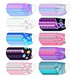 100Pcs Kids Disposable Face_Masks - Childrens Face_Mask Colorful Assorted Colors Face_Mask with Nose Wire & Elastic Adjustable Earloop Boys Girls Breathable 3-Ply Face_Covering for School Outdoors