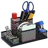 Aavjo, Metal Mesh Storage Office Desk Accessories Supplies Organiser Pen Pencil Holder (4 Compartment)