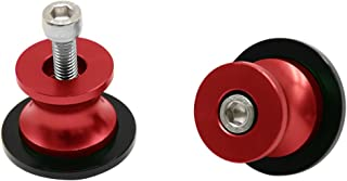 2pcs M8 X1.5 Motorcycle Swing arm Sliders Spools CNC Swing Arm Stand Screw for Ducati Triumph Z900 Z800 10R/6R S1000RR CBR1000RR/250R/600RR/900RR GSXR B-KING1300 DL650 DL1000 TL1000RS GSR GSX (Red)