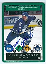 Autograph 212266 Toronto Maple Leafs 1995 Playoff No. 95 Mike Gartner Autographed Hockey Card