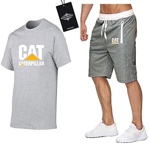 Jasmin Busse Hombres Y Mujer Camiseta Bermudas Chandal Conjunto por Ca.Ter_Pillar-s Dos Piezas Corto Manga Tee Pantalones Ropa Deportiva Z/Gray/M