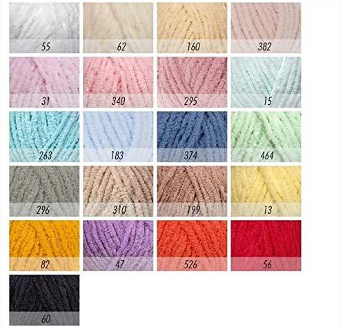Estambre Softy plus Alize paquete con 5 bolas de 100 gramos C/U paquetes de un mismo color.