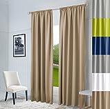 Hochqualitativer Vorhang nach Maß Oxford, Gardine nach Maß, Kräuselband, Schlaufen, Blickdicht, 6, Höhe: 250cm x Breite: 145cm, (Cream)