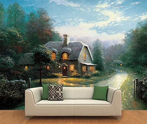 Foto behang woonkamer muurschildering Thomas landschap olieverfschilderij sofa achtergrondbehang (B)400*(H)280cm Pro