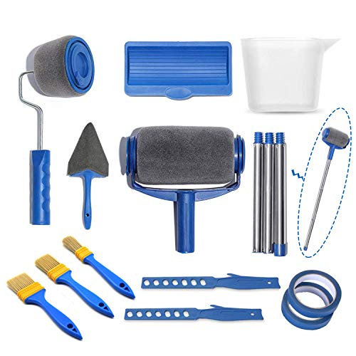 Paint Roller Kit, Paint Runner Pro Brush Set Painting Handle Tool Transform Your House, School & Office in Just Minutes Quickly Decorate Runner Tool Painting Brush Set, No Prep, No Mess