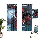 Cortinas de decoración para el hogar d-eadpool vengadores película cómics ilustración fresca cortinas opacas grandes cortinas calientes 42 x 84 pulgadas