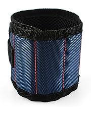 MINHER 1 unids Pulsera magnética imanes súper fuertes y cierre de gancho y lazo para sujetar tornillos, tijeras, manualidades de bricolaje, portaherramientas pequeño