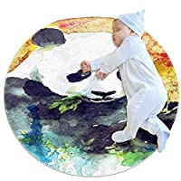 ソフトラウンドエリアラグ 70x70cm/27.6x27.6IN 滑り止めフロアサークルマット吸収性メモリースポンジスタンディングマット,居間、家、寝室、庭、バルコニーのためのスーツ
