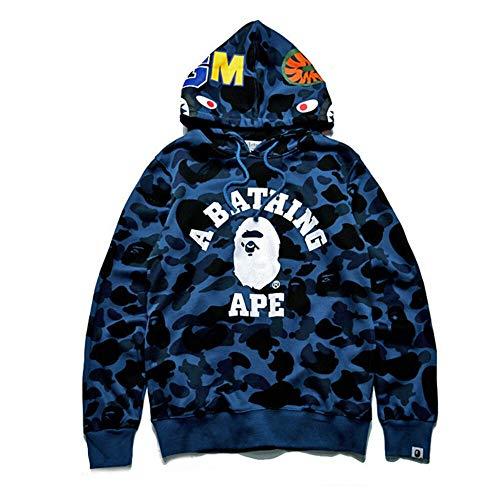 Men/'s Bape A Bathing Ape Shark Head Camo Hoodie Coat Sweatshirt Jacket Zipper