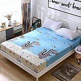 CYYyang Protector de colchón de Rizo algodón y Transpirable Hoja de Cama de Dibujos Animados Paquete Completo de una pieza-15_150 * 200 + 15