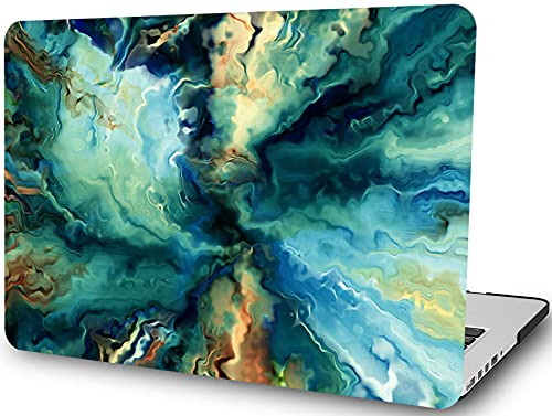 Mármol Azul Funda Dura Compatible con MacBook Air 13/13,3 Pulgadas(Versión Anterior 2017-2010 Versión A1466 A1369),LYMGG Ultra Delgado Carcasa Rígida Protector de Plástico Cubierta,Ondulación Azul