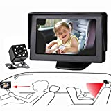Baby Mirror for Car, Back Seat Baby Car Camera with Night Vision, View Infant in Rear Facing Seat with 4.3-Inch HD Display, Observe The Baby's Every Move at Any Time while Driving