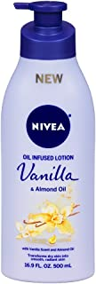 Nivea Lotion Oil-Infused Vanilla/Almond Oil 16.9 Ounce Pump (500ml)