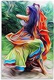 Lienzo Pintura Al óLeo Imagen y Danza Gitana para decoración Familiar Poster Y Estampados Arte Cuadros 23.6'x35.4'(60x90cm) Sin Marco