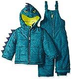 Carter's Boys' Little Character Snowsuit, Green Dinosaur, 5/6