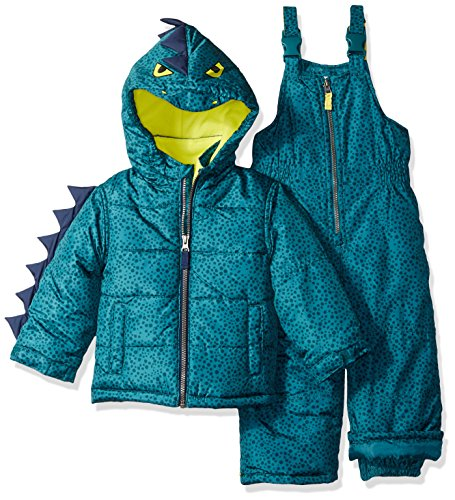 Carter's Boys' Toddler Character Snowsuit, Green Dinosaur, 3T