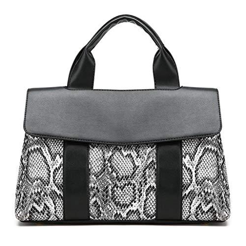 MWY Bolso de Mujer, Bolso de Serpiente de Moda, Diseño en Blanco y negro que Resalta el lujo Magnífico