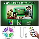 BASON LIGHTING LED-Streifen mit USB-betriebener Hintergrundbeleuchtung, Heimkino-Beleuchtung für 32 bis 46 Flachbildfernseher