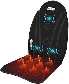 Masajee el masajeador trasero calentado con cojín del asiento del automóvil, 3 nodos de masaje de vibración, cojín la silla masaje para la silla la oficina en el hogar o el asiento del automóvil