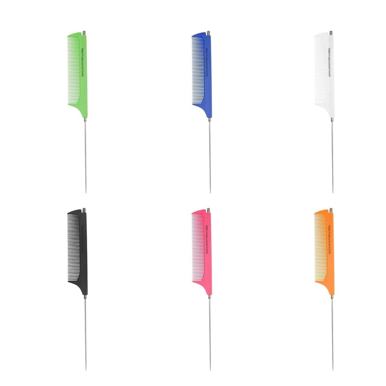 ハードリング表面セットアップP Prettyia 6個セット テールコーム 耐熱櫛 ヘアカット プロ ヘアサロン 美容師