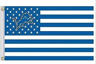 NFL Detroit Lions Stars and Stripes Flag Banner - 3X5 FT - USA FLAG
