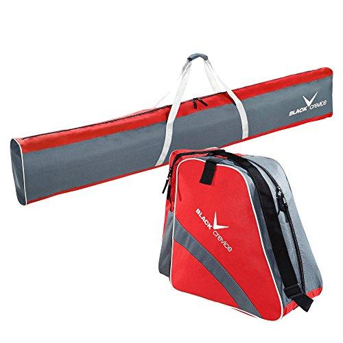 Black Crevice Unisex– Erwachsene Skitaschen Set, rot/grau, Einheitsgröße