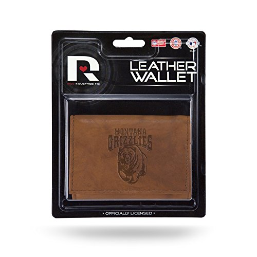 NCAA Rico Industries Leather Trifold Wallet with Man Made Interior Montana Grizzlies