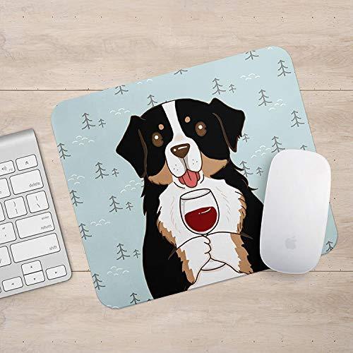 Bernese Mountain Dog Drink Koffie/Wijn Mousepad, Hond Muis Pad, Hond Liefhebber Gift Mousepads, Aztec Geometrische Grappige Laptop Accessoires, Size: 9.9x11.9 inches/25x30cm, Veelkleurig