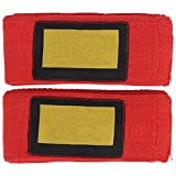 FOLOSAFENAR Envolturas de Mano de Muay Thai, envolturas de Mano elásticas de Boxeo, Buena contracción para Proteger los Picos de los puños y Las muñecas del daño(Rojo)