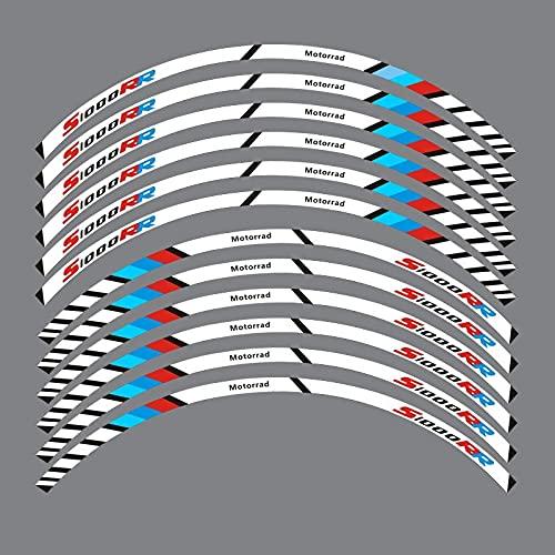12 Tiras De Calcomanías Reflectantes para Motocicleta, Llantas, Pegatinas para Motocicleta, Estilo De Decoración para B-M-W S1000RR S1000 RR (Color : 11)