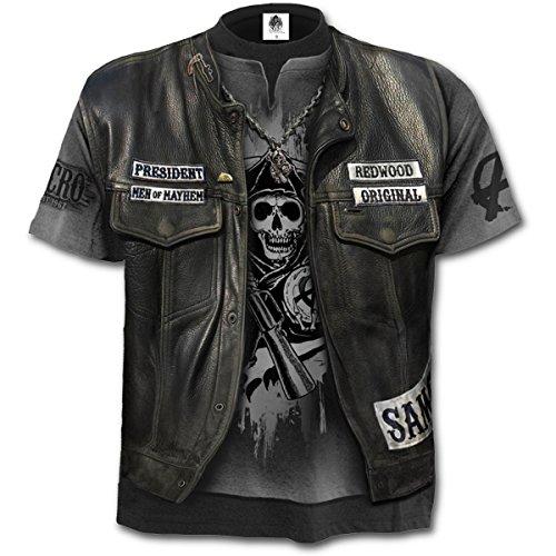 Spiral - Jax WRAP - T-Shirt mit Allover-Motiv - Schwarz - M