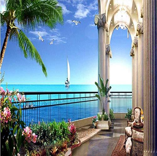 Benutzerdefinierte Wallpaper Mit Foto Wandaufkleber Hd Zimmer Mit Meerblick 3D-Bild Wallpaper Mit TV Background_